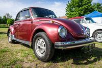 Economy car Volkswagen Beetle. Die Oldtimer Show 2019.