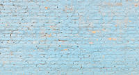 Panoramic blue brick wall