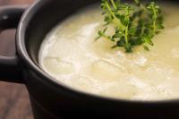 Fresh soup of white asparagus