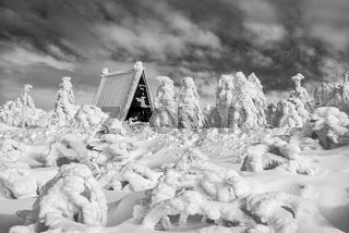 Winter im Erzgebirge - Die Wanderhuette
