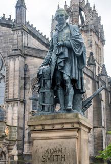 Statue of economist Adam Smith Edinburgh