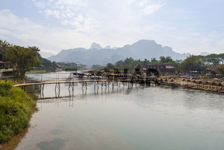 Vang Vieng with the river, Laos