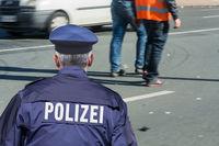 German police barrier tape