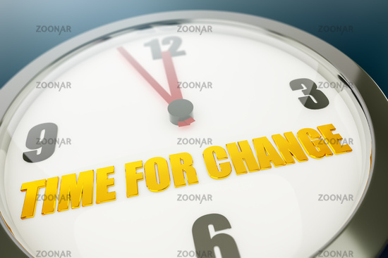 Clock with text time for change