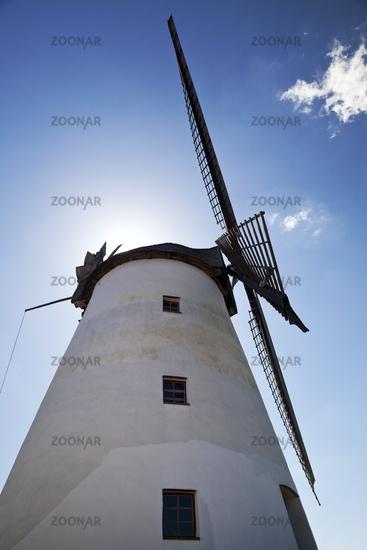 wind mill Maschmeyers Muehle, Porta Westfalica, North Rhine-Westphalia, Germany, Europe