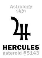 Astrology: asteroid HERCULES (Heracles)