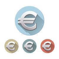 Euro sign on white background.