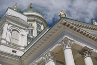 Detail of Cathedral of the Diocese of Helsinki, finnish Evangelical Lutheran church, Finland
