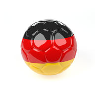 Soccer ball with the flag of Germany