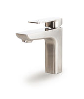 Custom Stainless Steel Faucet Isolated on a White Background