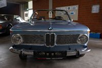 Compact executive car BMW 1600 Cabriolet (BMW 02 Series).  Die Oldtimer Show 2019.