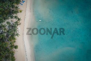 bird view shot of Dominican republic beach