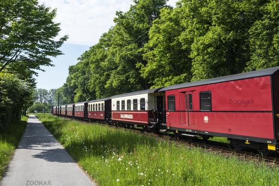 Molli, historic steam railway, Kuehlungsborn, Mecklenburg-Western Pomerania, Germany, Europe