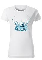 Woman T-shirt Design with Water Splash