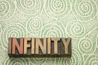 infinity word n wood type