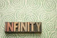 infinity word n wood type