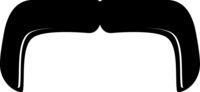 Handlebar Moustache Icon Vector