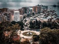 Malaga aerial view, spain