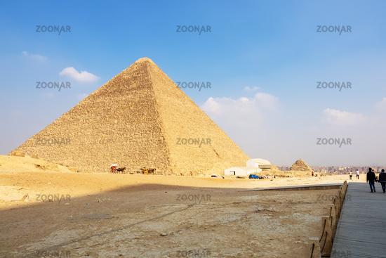 Pyramids at Giza Cairo Egypt