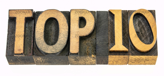 top 10 word abstract in wood type