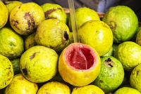 maracuya, passion fruit, market hall, Funchal, Madeira, Portugal, Europe