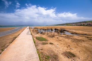 Healthy mud beach in Cizici Soline on Krk island