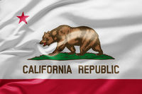 Waving state flag of California - United States of America
