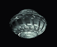 Futuristic Spaceship Isolated On Black Background. Alien Technology Concept