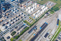 railway marshalling station and petrochemical plant