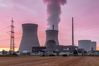 Nuclear power plant in evening light