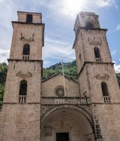 St Tryphon church in the Old Town of Kotor in Montenegro