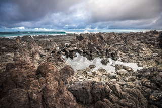 Volcanic coastline of Lanzarote, Canary islands, Spain