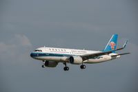 China Southern airlines Airbus A320 Neo commercial airplane against sky