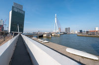 Erasmus bridge and KPN tower in Rotterdam Netherlands