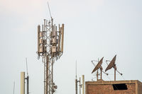 some antenna at the roofs of Cairo Egypt