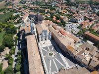 flight over Basilica della Santa Casa Loreto Italy