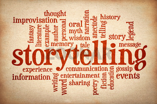 story and storytelling  word cloud