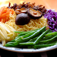 Raw materials vegetables noodles
