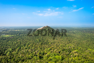 Landscape with the Pidurangala rock in the Central Province of Sri Lanka