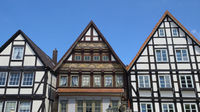 Rinteln - Half-timbered houses at the market place, Germany