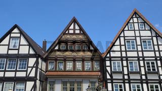 Rinteln - Fachwerkhäuser am Marktplatz, Deutschland