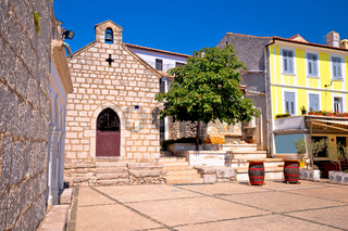 Town of Omisalj square architecture view