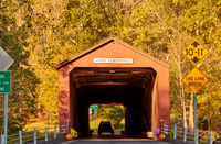 Covered bridge in West Cornwall, Connecticut