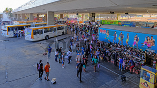 Brasilia, Brazil, August 7, 2018: Central Bus Station, the main hub for transportation, Brasilia, Brazil, South America