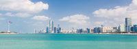 Abu Dhabi city skyline, United Arab Emirates