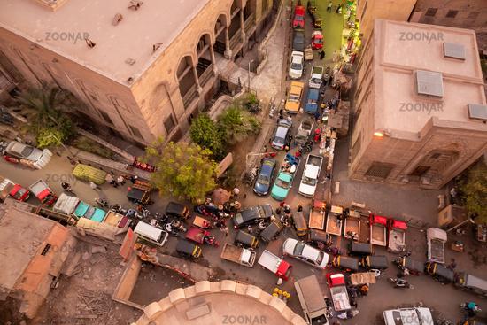 traffic jam at Cairo Egypt