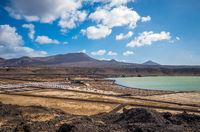 Salinas de Janubio, saltworks in Lanzarote, Canary Islands, Spain
