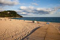 Platja de Fenals Beach in Lloret de Mar in Spain