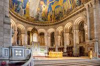 Inside of basilica on Montmartre in Paris