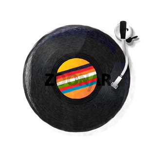 Watercolor turntable